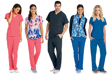 Go for scrubs that suit your body type